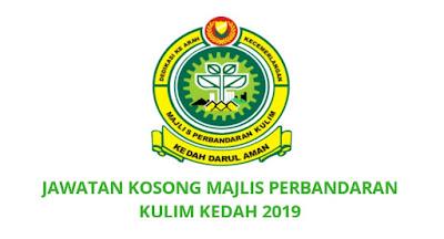 Jawatan Kosong Majlis Perbandaran Kulim 2019 MPKK
