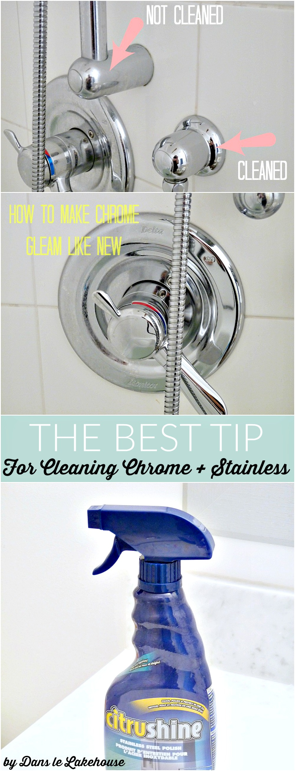 The easy way to clean chrome and stainless