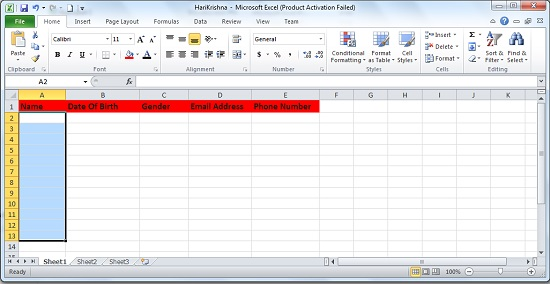 Using C# to Create an Excel File with Header in Dotnet