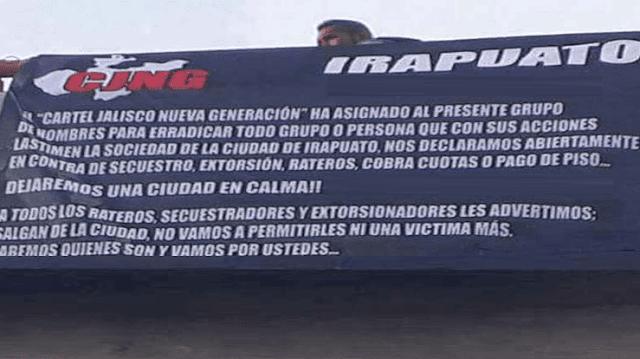 """""""SABEMOS QUIENES SON Y VAMOS POR USTEDES"""" EL CJNG ASIGNA GRUPO ARMADO PARA HACER UNA LIMPIA EN IRAPUATO, GUANAJUATO"""