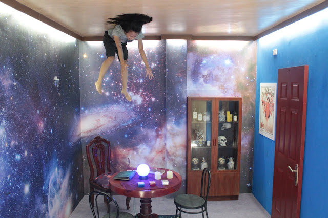 Fortune teller's room at the Upside Down World Museum