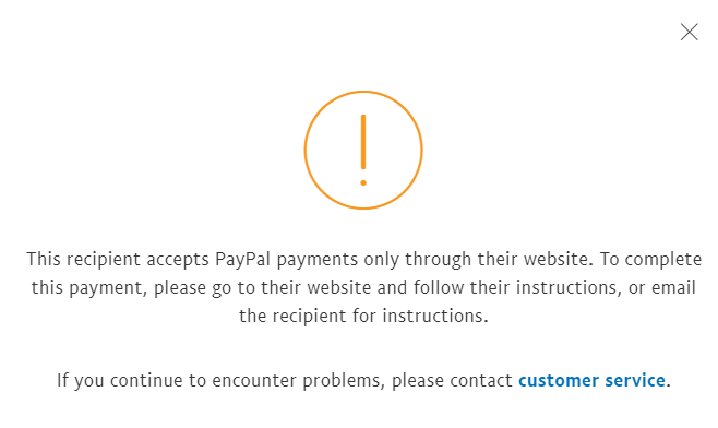 Why does my PayPal show error message when someone sends me money?