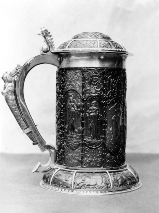 Photograph of the amber tankard from St Mary's 1900s Image from G. Knott / NMLHS, part of the Images Of North Mymms collection