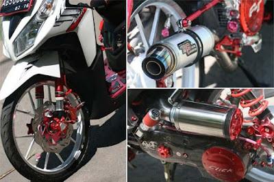 motor keren di modif pake aksesoris
