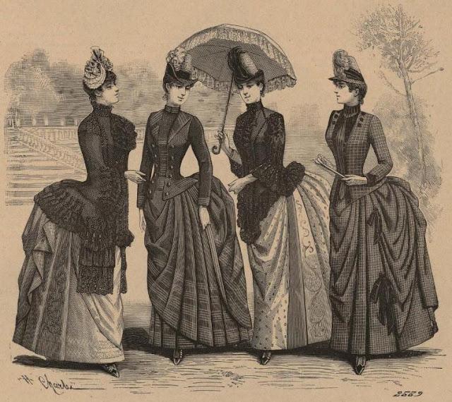 Grabado publicado en la portada de El Correo de la Moda, 26-5-1886