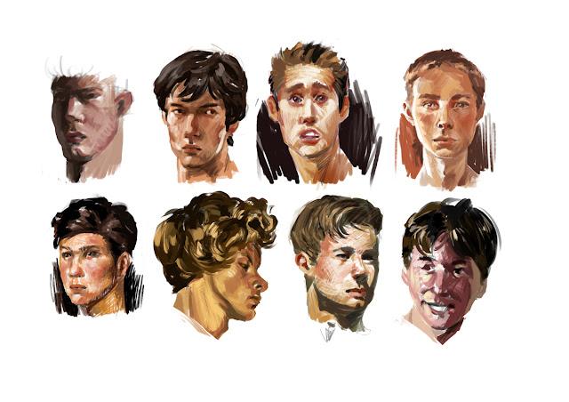 douglas deri, deri, art, fineart, oil, head studies, head paint, paint,head, expressions , tutorial, brush