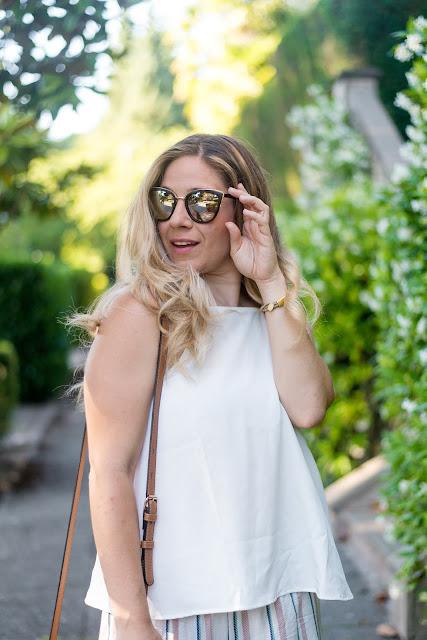 sunglasses shot // peplums & pie