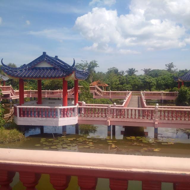Tasik Melati Recreational Park (Melati Lake), Perlis, visit perlis, visit malaysia, tourism, Chinese old style architectural.,