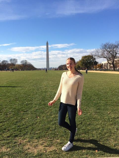 YFU-vaihto-oppilas Iida Washington D.C.:ssä