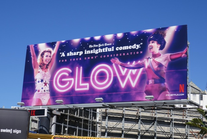 GLOW season 2 Emmy FYC billboard