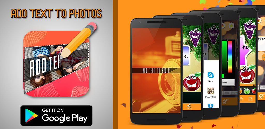 Design Photos with Stickers using Android Application   Add Text to