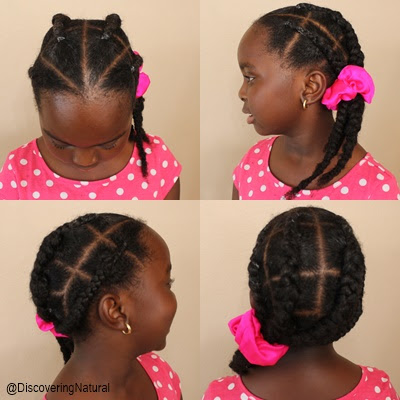 How to Fake Cornrow | Natural Hair | Sensitive Scalp DiscoveringNatural