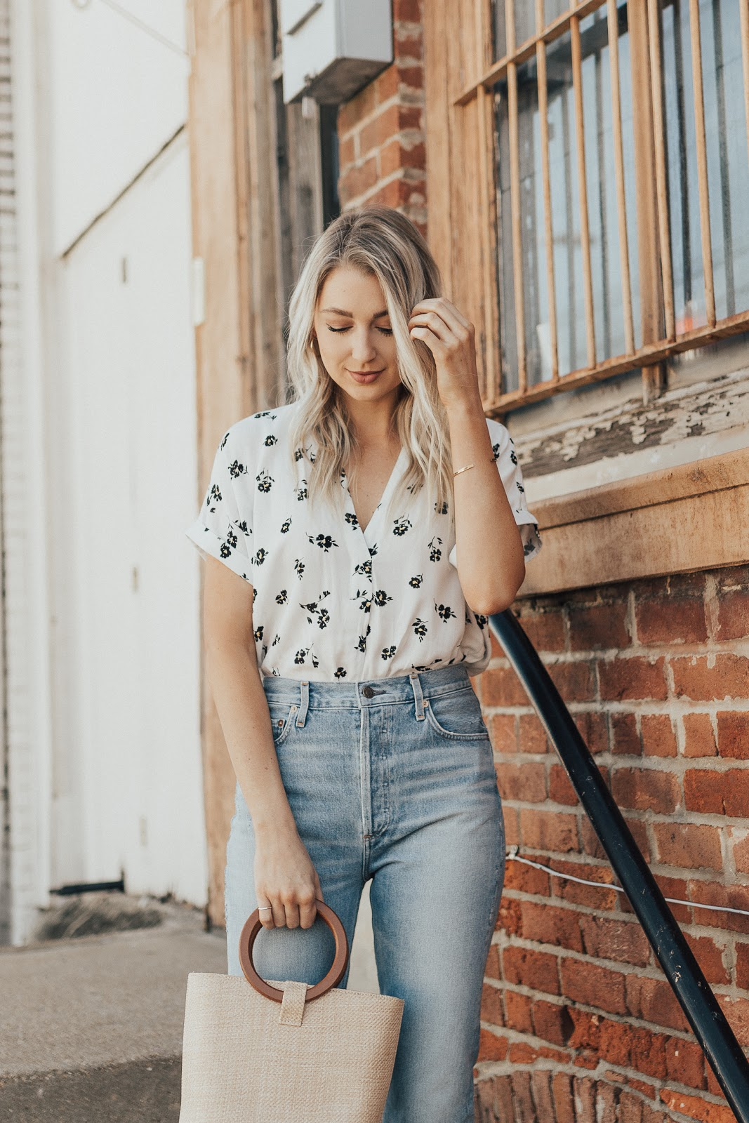 relaxed floral blouse | Love, Lenore