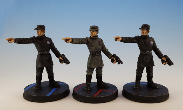 Imperial Officers, Imperial Assault FFG (2014, sculpted by Benjamin Maillet)