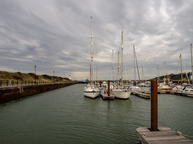 Photo of Maryport Marina before the rain arrived yesterday (Thursday)
