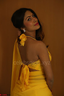 Nishigandha in Yellow backless Strapless Choli and Half Saree Spicy Pics 151.JPG