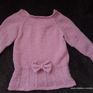sweter, sukienka, tunika, dziecko, warkocze, oczka rakowe, nako denim