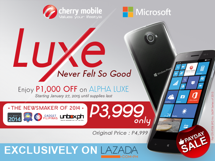 Cherry Mobile Alpha Luxe Payday Sale