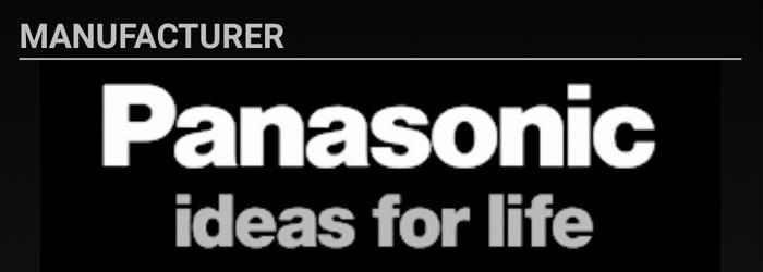SD Insightの製造業者表示は「Panasonic」