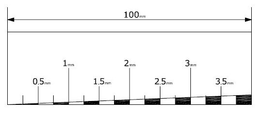 Regla Casera para Medir la Altura de las Cuerdas para Calibrar Guitarra