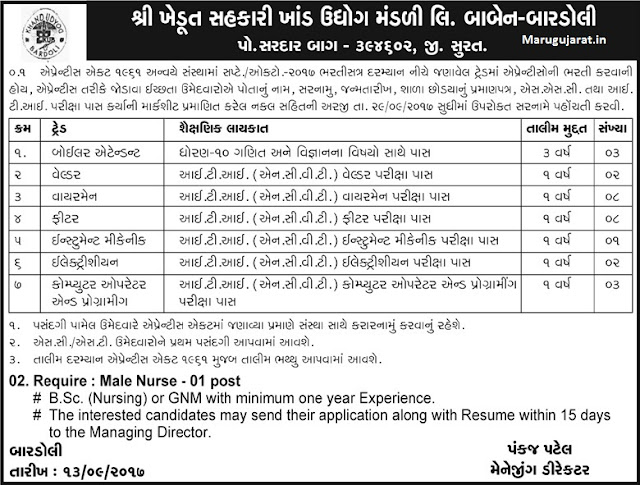 bardoli- job- recruitment- 2017