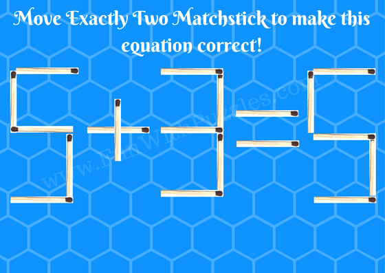 Matchstick Math Brain Teasers Picture-1