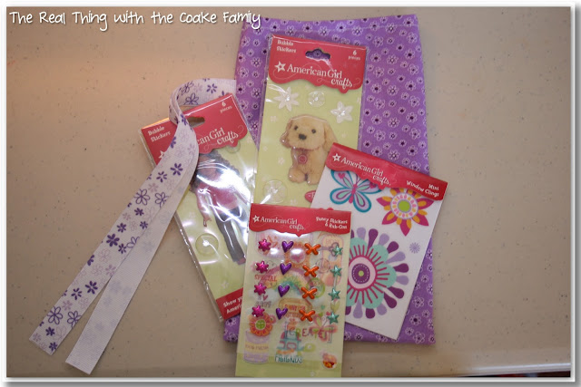 American Girl Party ideas - Make your own party favor bags. #AmericanGirlDoll #Birthday #Party #RealCoake