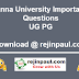 Anna University Important Questions April May 2018 Exam