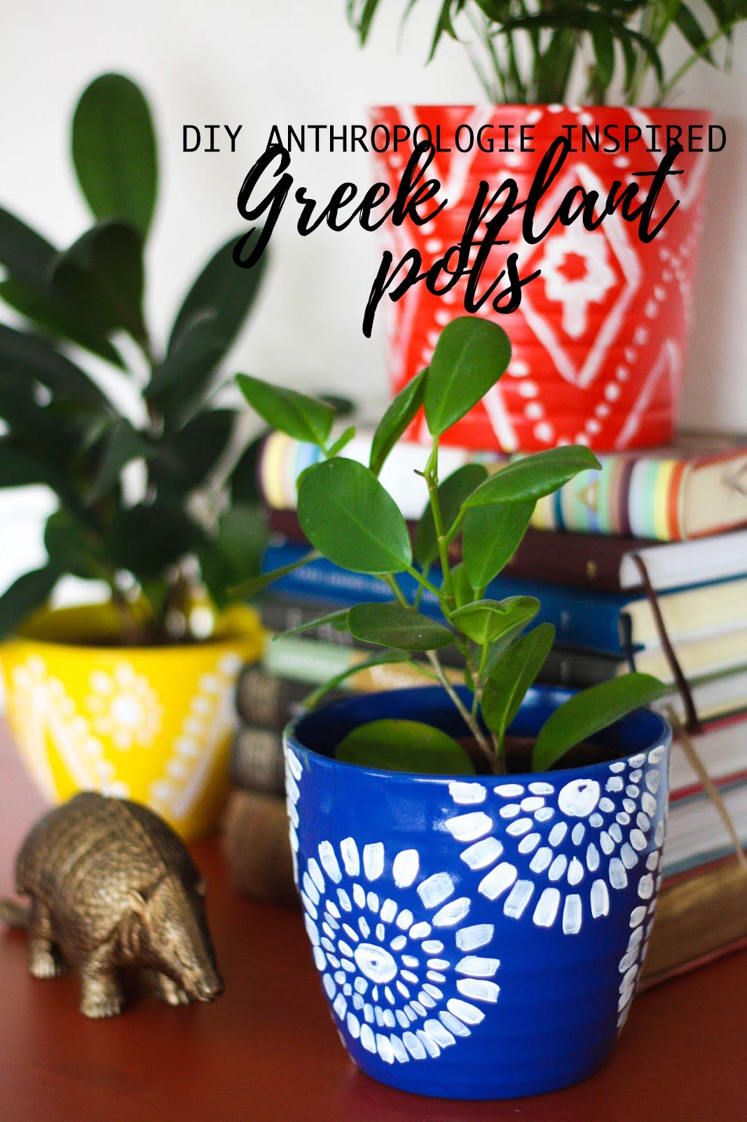 DIY Anthropologie-inspired Greek plant pots