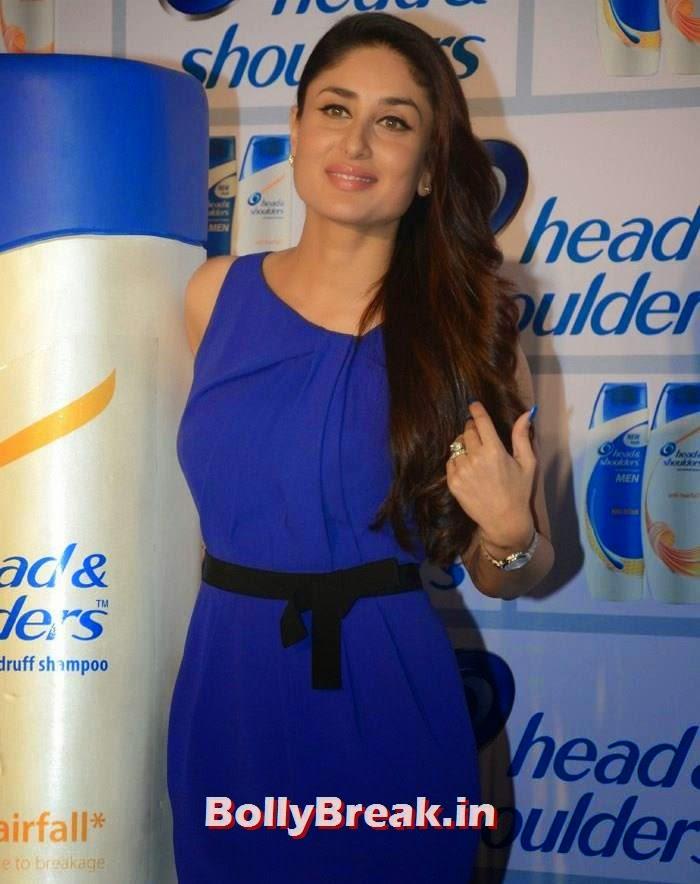 Kareena Kapoor Khan, Kareena Kapoor Khan new images in Blue Dress at 'Head & Shoulders' Launch