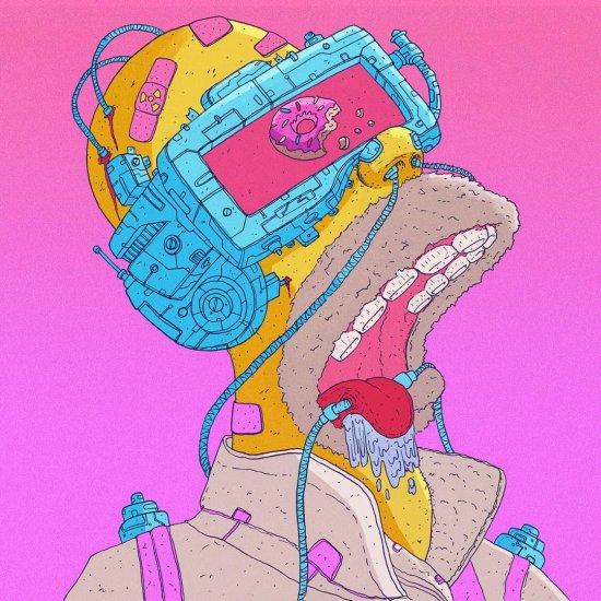 Nick Sullo xsullo instagram arte ilustrações cyberpunk surreais coloridas psicodélicas