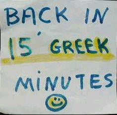 Greek Time
