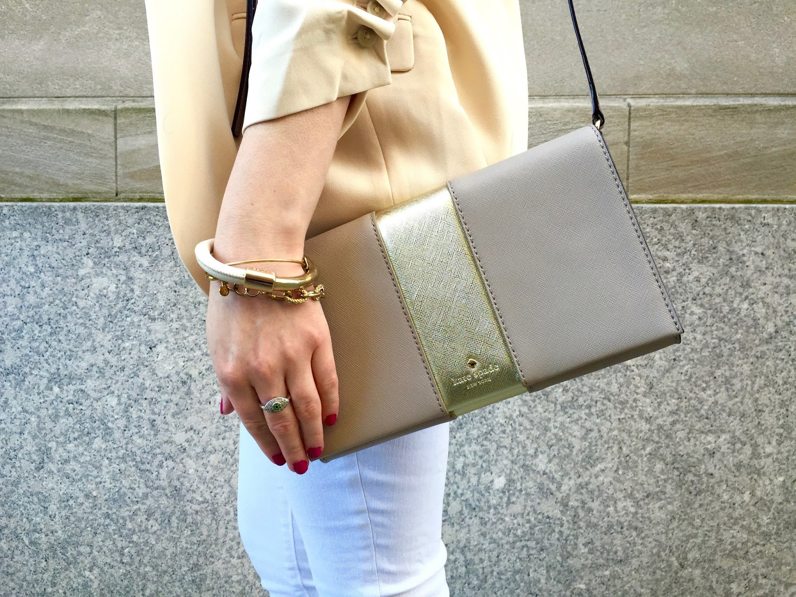 gold crossbody purse
