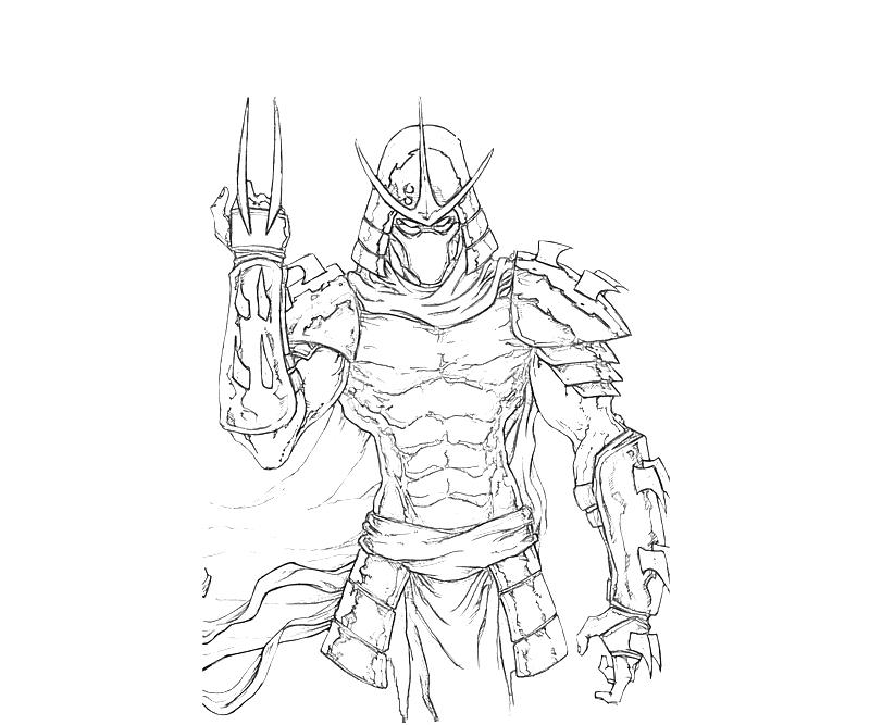 shredder coloring pages - photo#5
