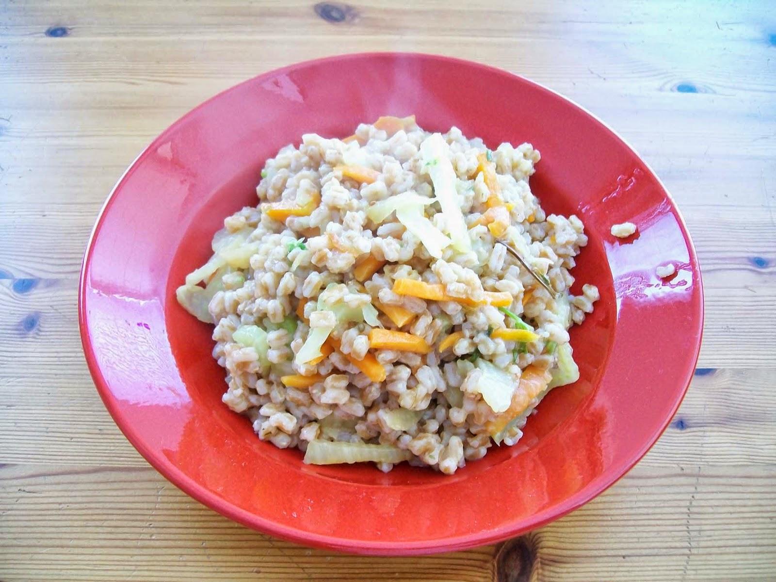 Dinkel mit Gemüse - vegan - Hauptspeise