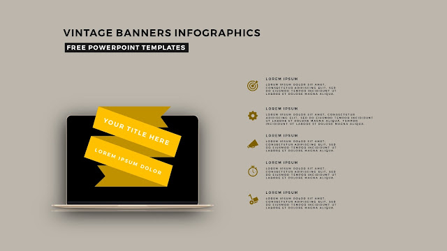 Vintage Banners Infographic Free PowerPoint Template Slide 5