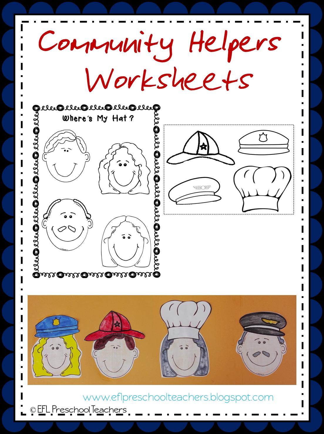 ESLEFL Preschool Teachers Community Helpers Worksheets and More – Community Helpers Worksheets