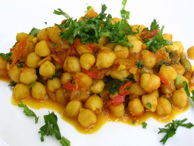 Spicy indian chickpeas chana masala lisas kitchen vegetarian spicy indian chickpeas chana masala forumfinder Image collections