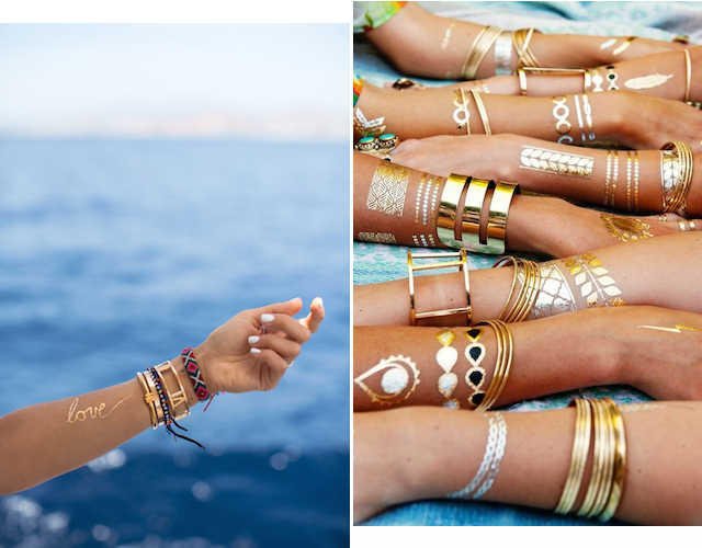 Currently Obsessed With... Metallic Tattoos