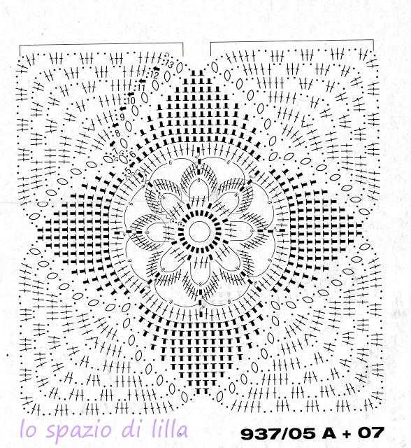 Gregoblen mattonelle a uncinetto schemi for Semplici piani di coperta
