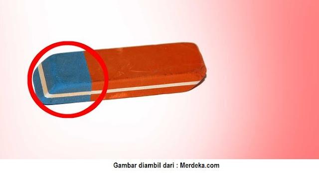 Penghapus Warna Biru dan Oranye - Blog Mas Hendra