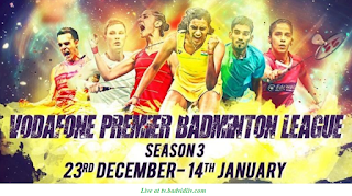 Premier Badminton League-3-2017-18 live streaming