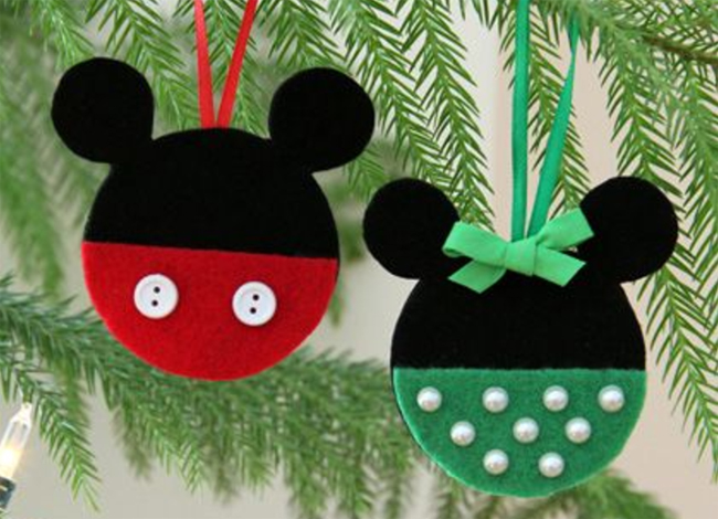 7 diy mickey mouse christmas ornaments overstuffed - Minnie Mouse Christmas Decorations
