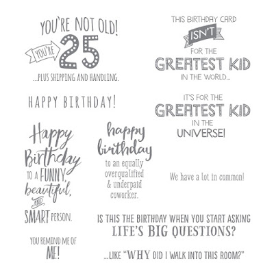Five For All - A fun and quirky set of Birthday sentiments - get yours here - http://bit.ly/2HGo3zu