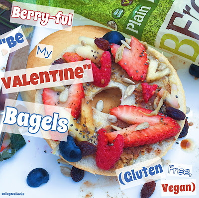 casey the college celiac Valentine's Day gluten free Bagels