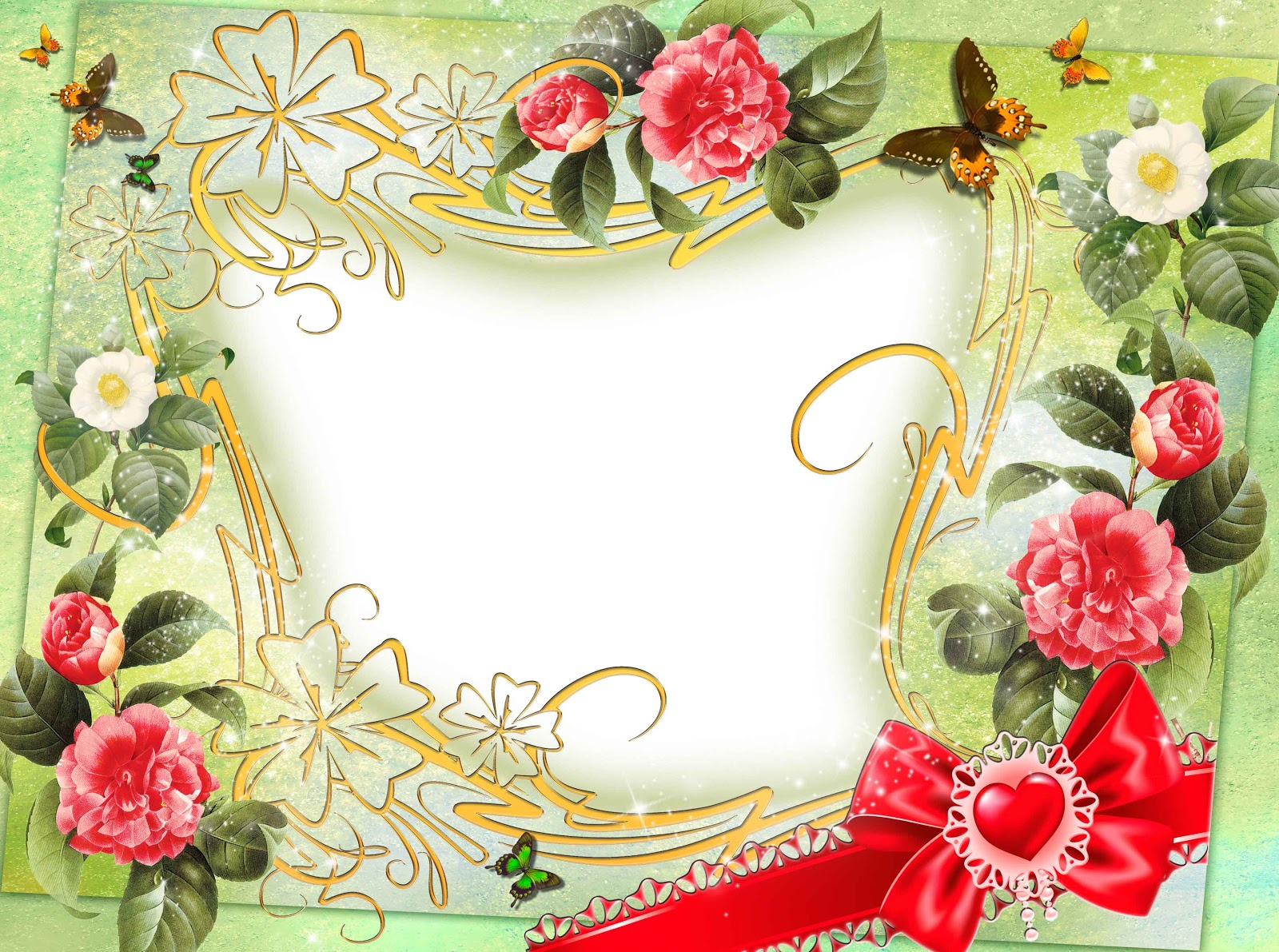 flowers png frame psd free