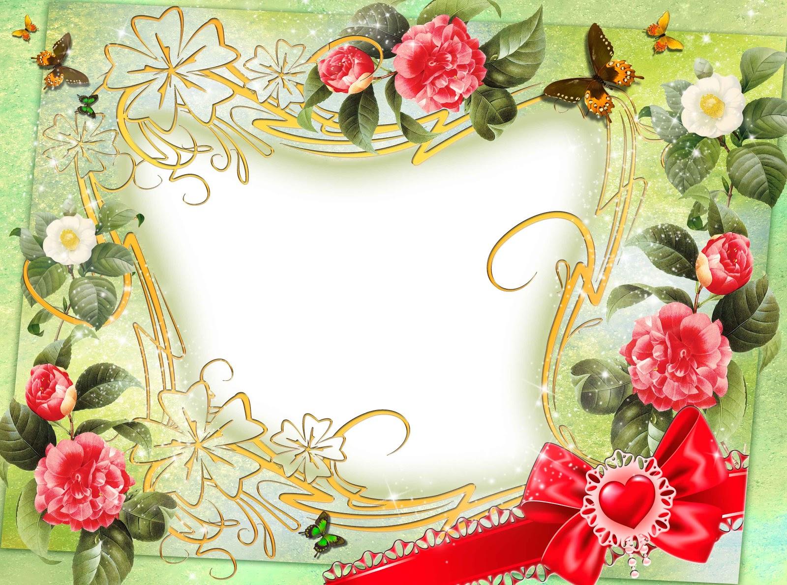 flowers png frame - Download Picture Frames
