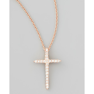 Tiffany and co silver gold cross pendant and necklace