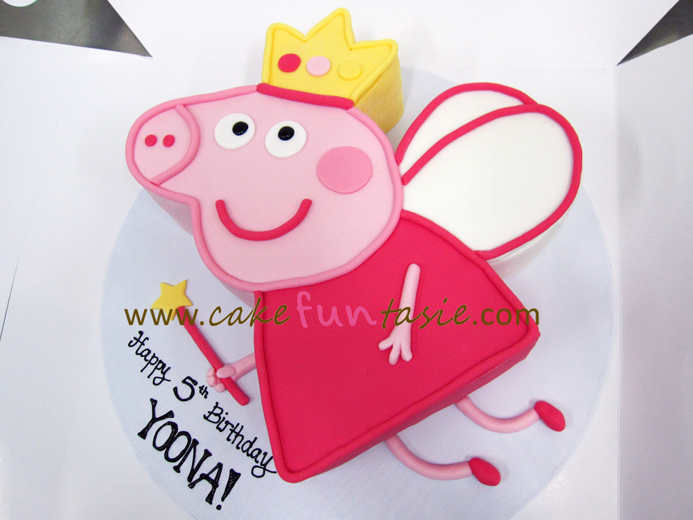 peppa pig cake template free - cake funtasie peppa pig fairy cake
