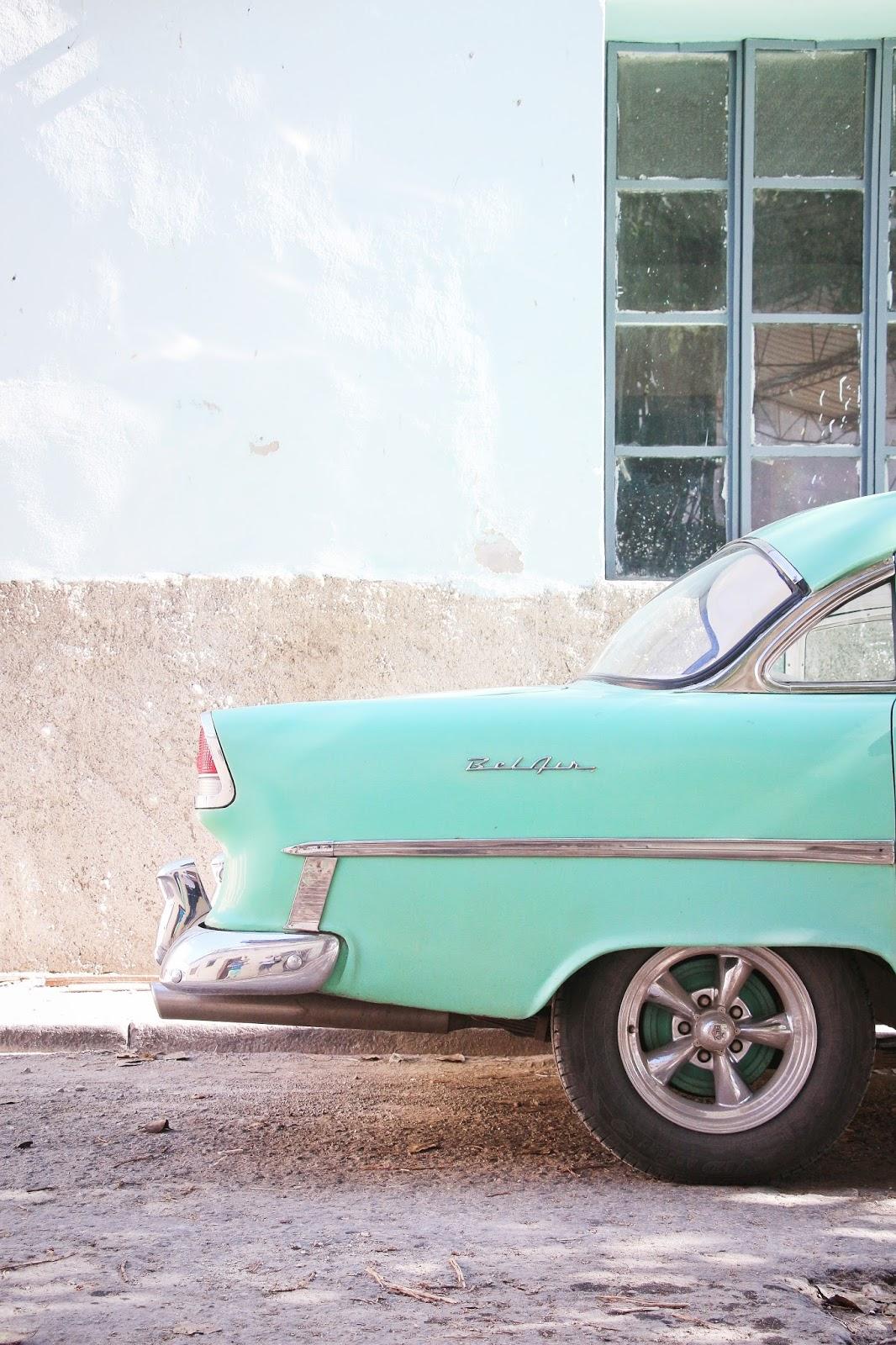Chevrolet Bel Air turquoise à La Havana - Cuba